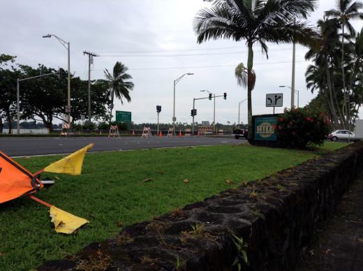 Bayfront Highway closed, photo by Stephanie Salazar
