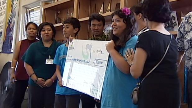 VIDEO: Lt. Gov Tsutsui gives Waiakea $45,000 for R.E.A.C.H.