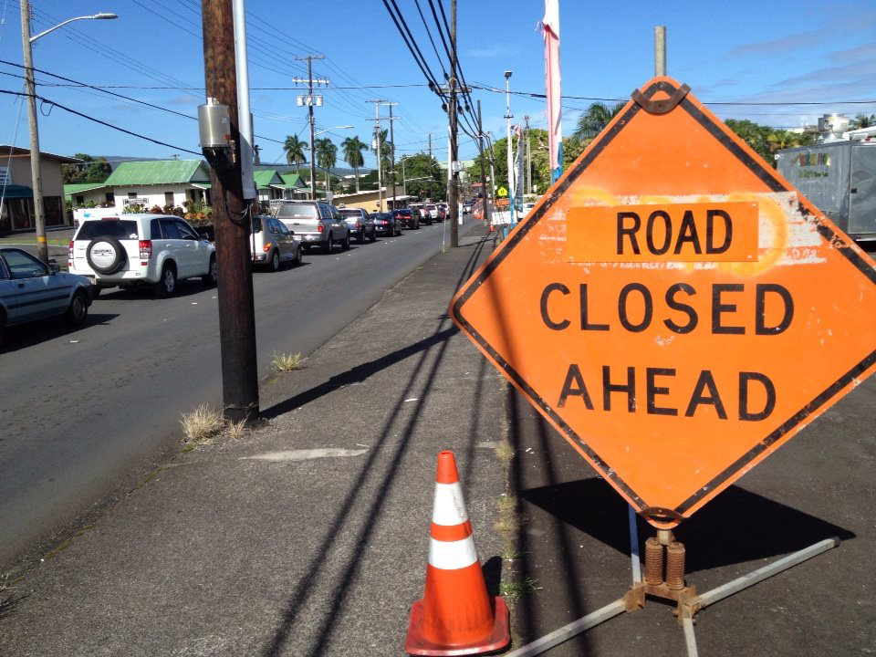 Kilauea Avenue road work snarls traffic