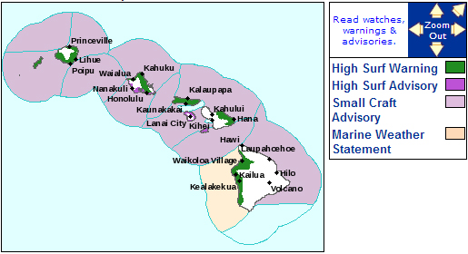 High Surf Warning closes West Hawaii beaches