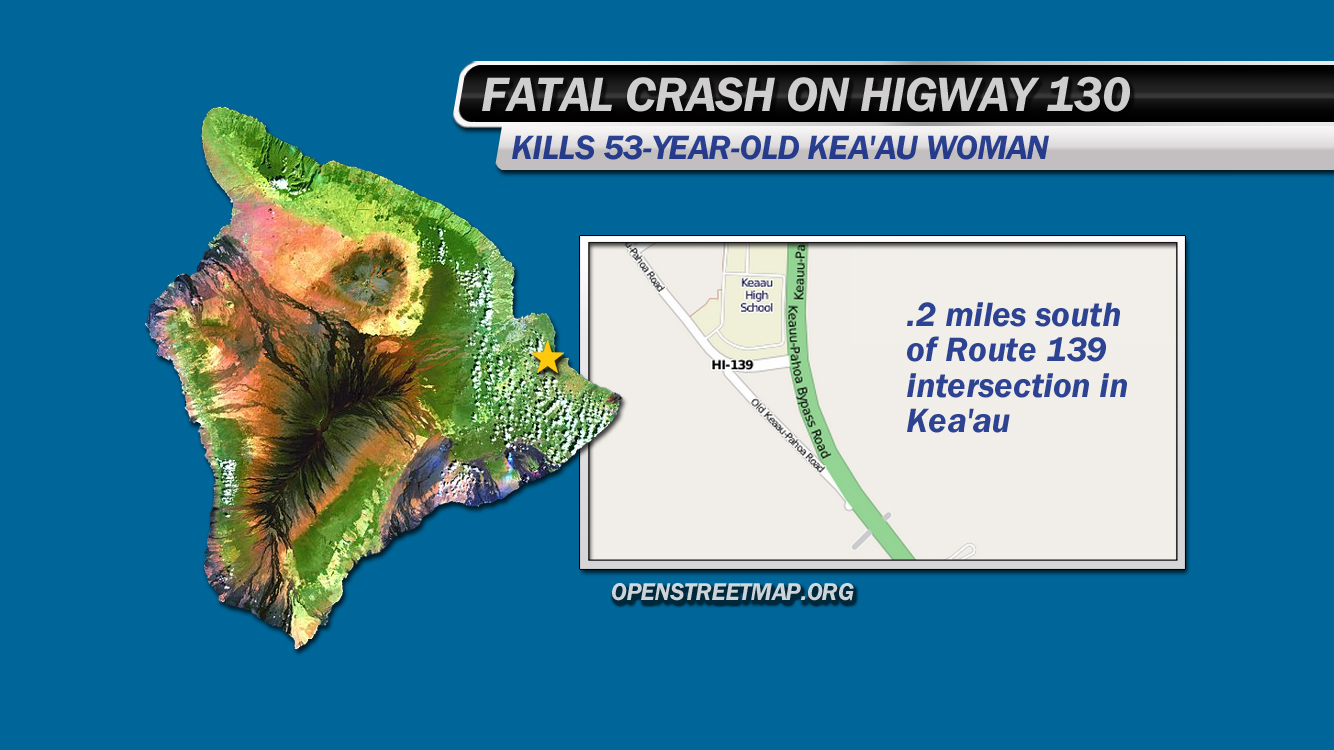 Highway 130 crash kills Keaau woman