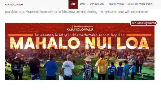 This image greets visitors to the Kanaiolowalu website, following the closure of the initial enrollment.