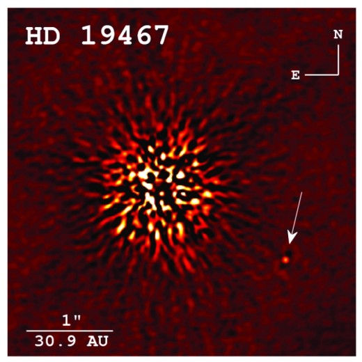 CREDIT: CREPP ET AL. 2014, APJ Direct image detection of a rare brown dwarf companion taken at Keck Observatory.
