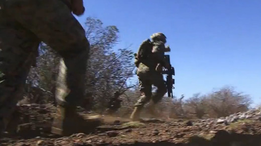 Lava Viper training at Pohakuloa, frame grab from video by Lance Cpl. Robert Bush.