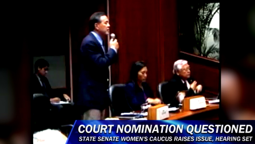 VIDEO: Hawaii Supreme Court nomination questioned