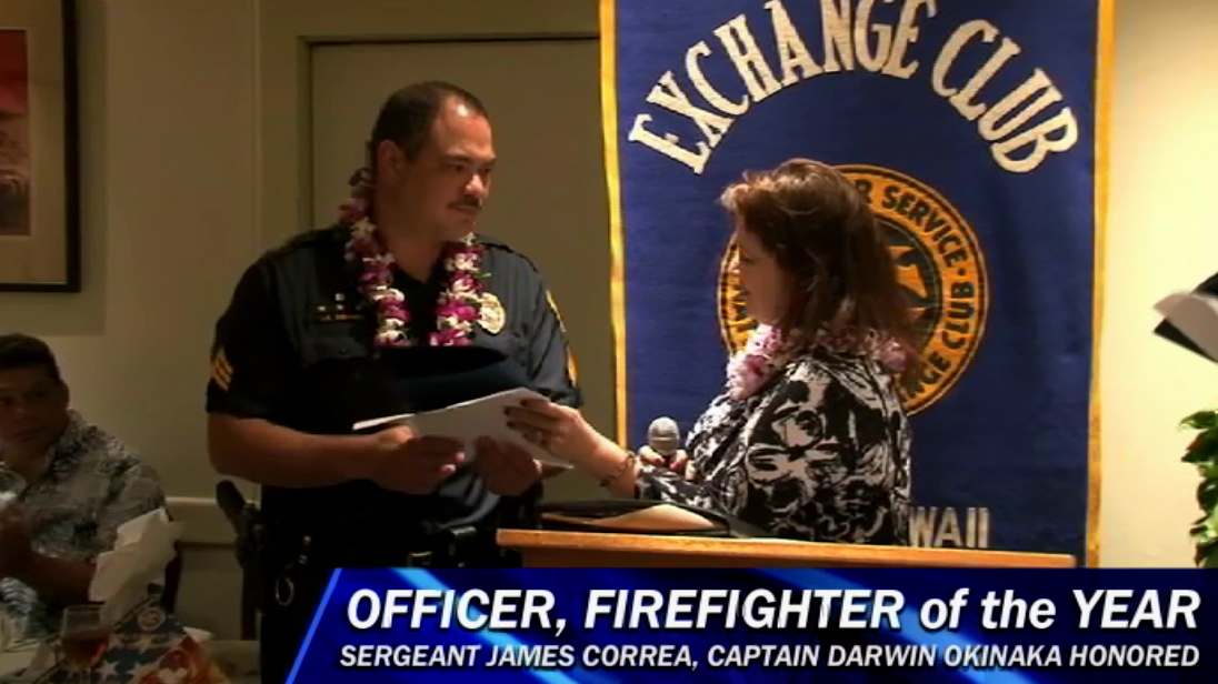 VIDEO: Hawaii County Police Officer, Firefighter of the Year