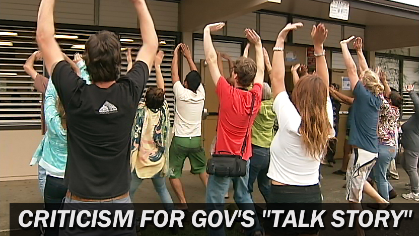 "VIDEO: Criticism, confusion at gov's ""talk story"" in Honokaa"