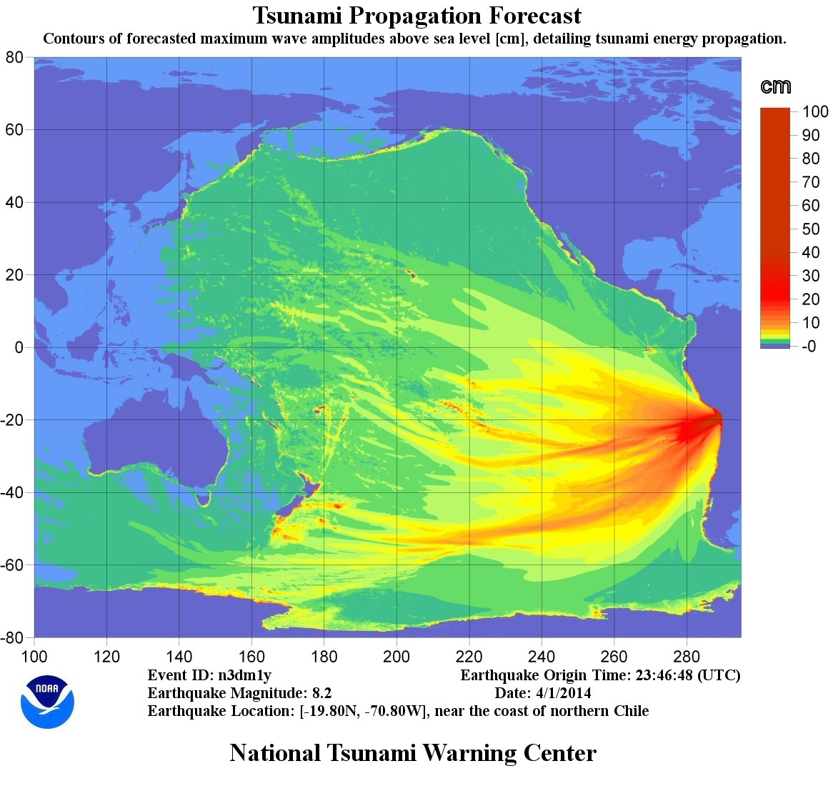 Tsunami threat to Hawaii being evaluated after 8.2 quake off Chile
