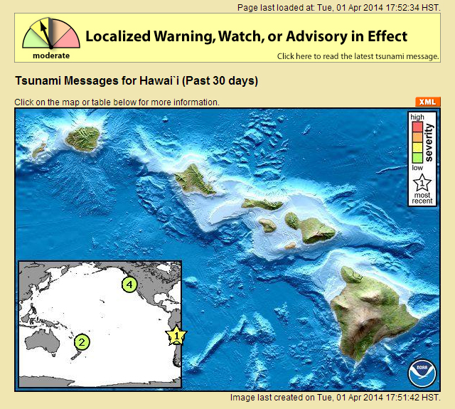 Tsunami Advisory posted for Hawaii after 8.2 earthquake in Chile