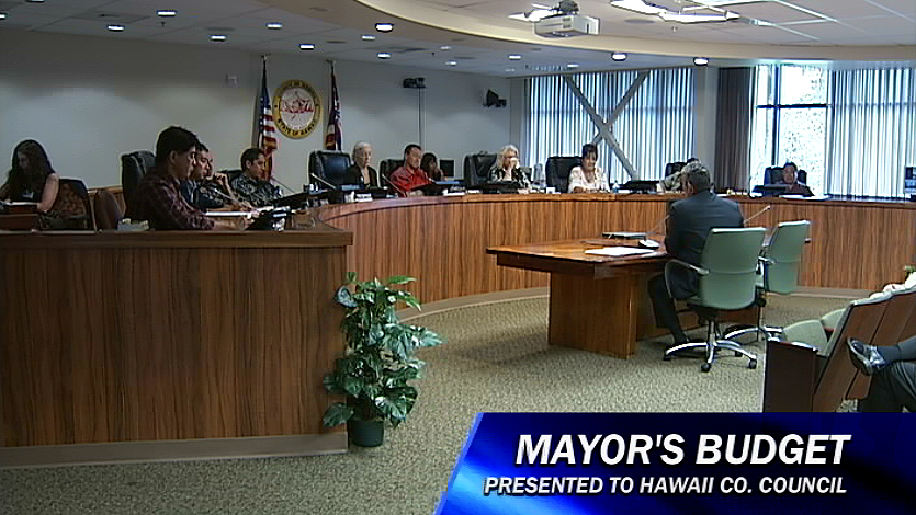 VIDEO: Mayor Kenoi presents budget to council