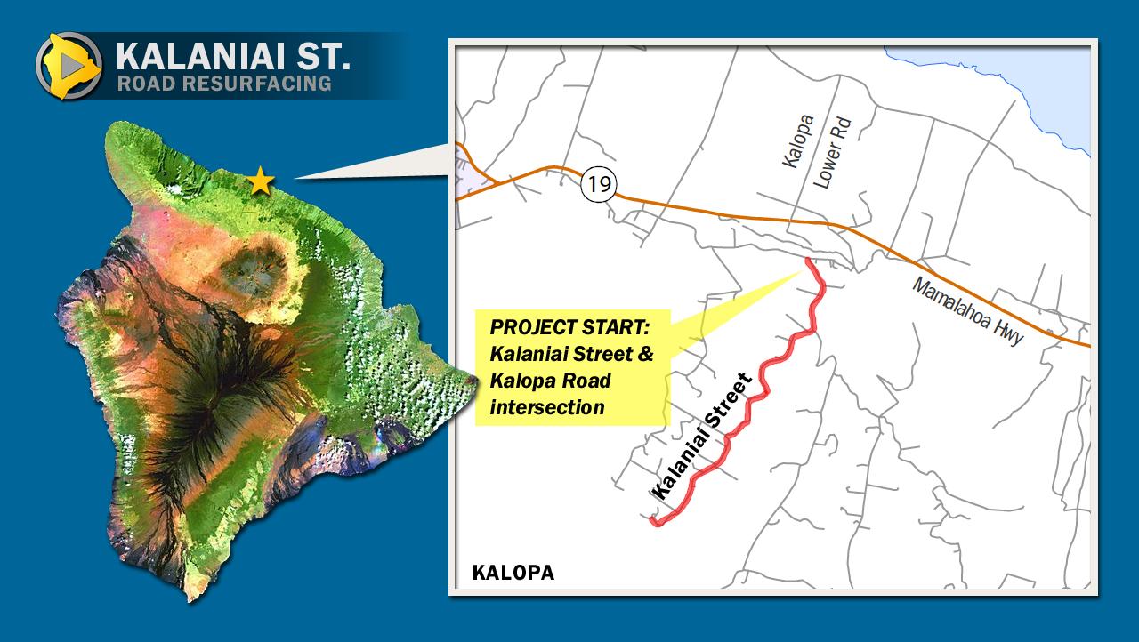 Kalaniai Street in Kalopa scheduled for work, April 29