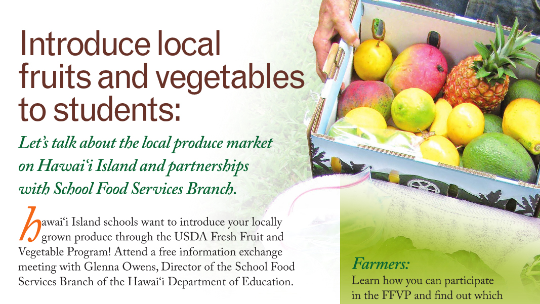 Meetings on selling produce to schools