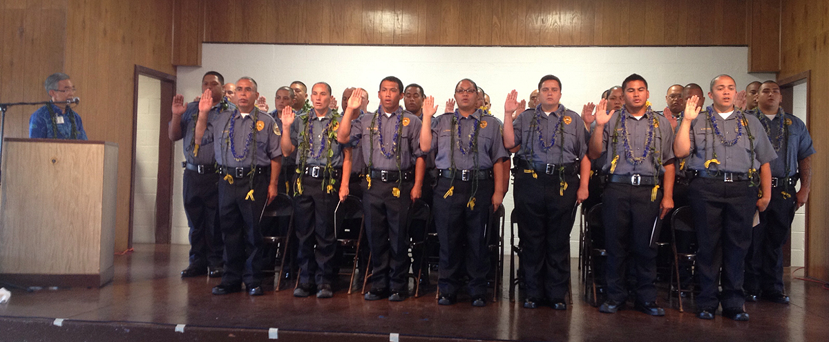 The new class of adult correctional officers, photo courtesy Department of Public Safety