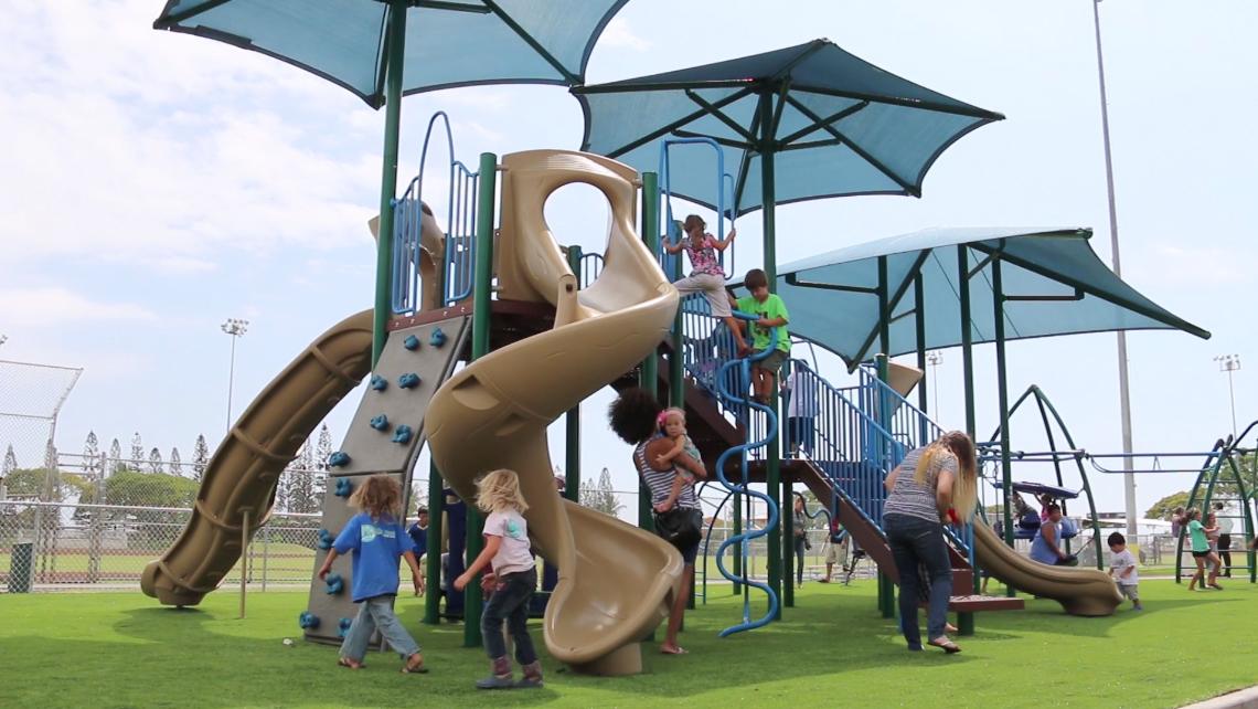 VIDEO: Kailua Park Playground Opens