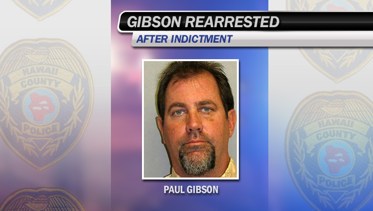 Gibson rearrested after indictment