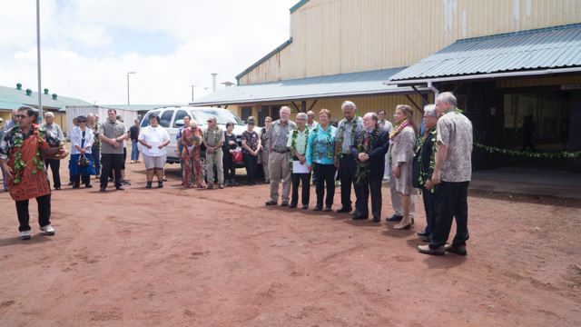 The governor joins other officials at the re-opening of Kulani Correctional Facility.