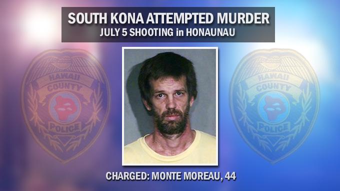 Honaunau man charged in Kona shooting