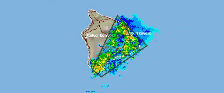 Flash Flood Warning in Effect For East Hawaii