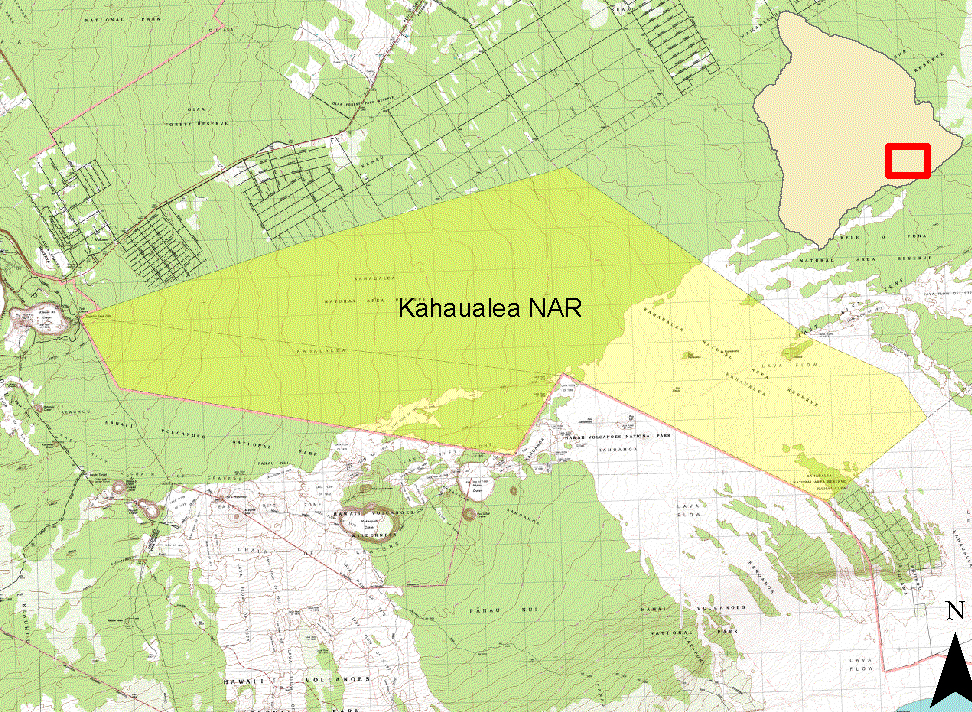 This map from the DLNR website shows the area of the Kahaualea NAR, which was established in  April of 1987, with an additional area added in 2010.