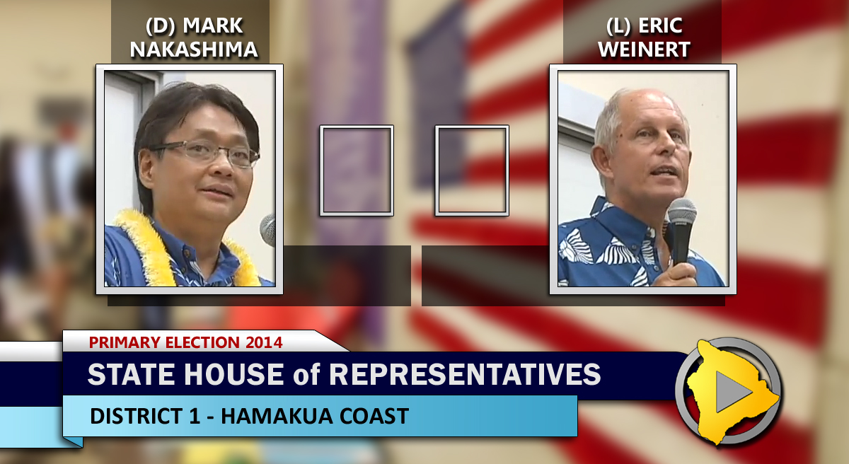 Election 2014: State House District 1 – Nakashima vs. Weinert