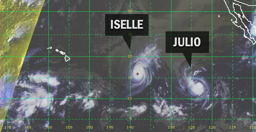 Hawaii Storm Threat Now Tale of Two Hurricanes: Iselle and Julio