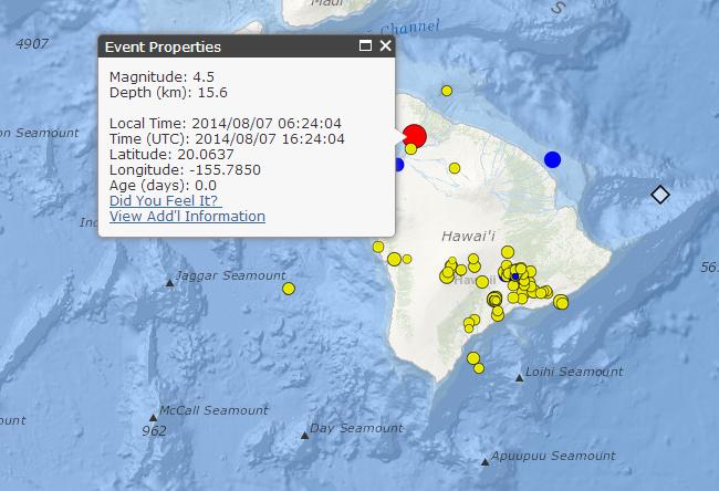4.5 Earthquake Hits As Big Island Braces For Hurricane