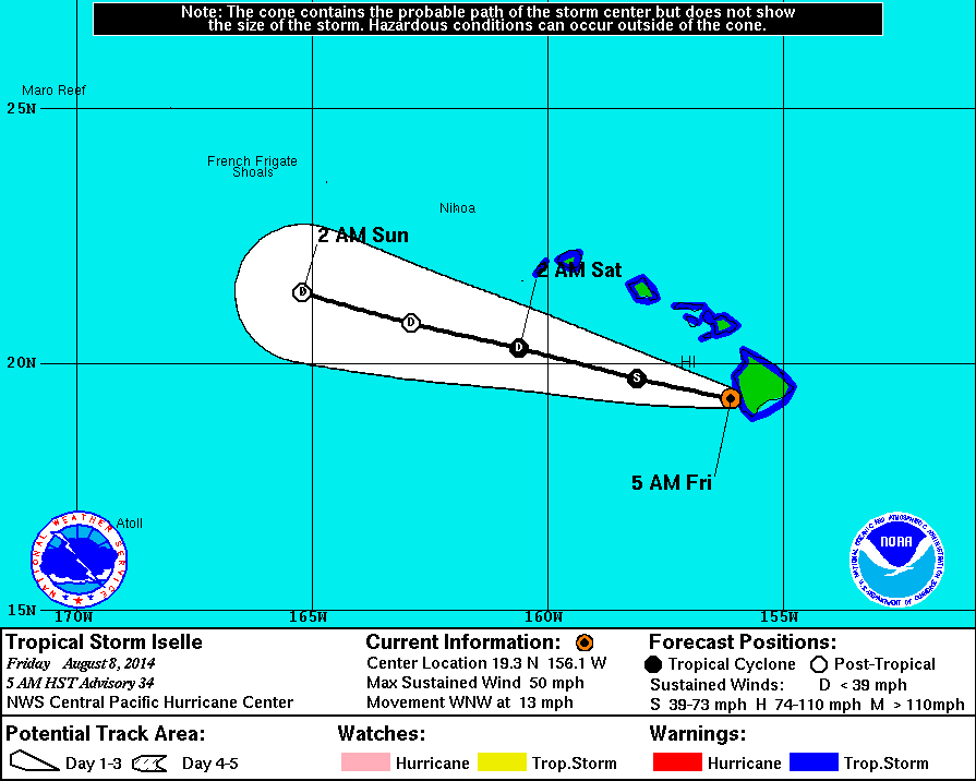 Post Hurricane Iselle Update