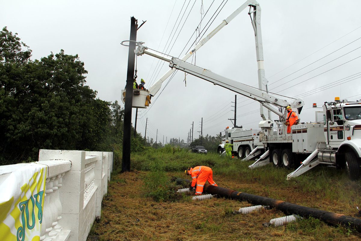 Puna Power Restoration Update from HELCO – Sunday Aug. 17