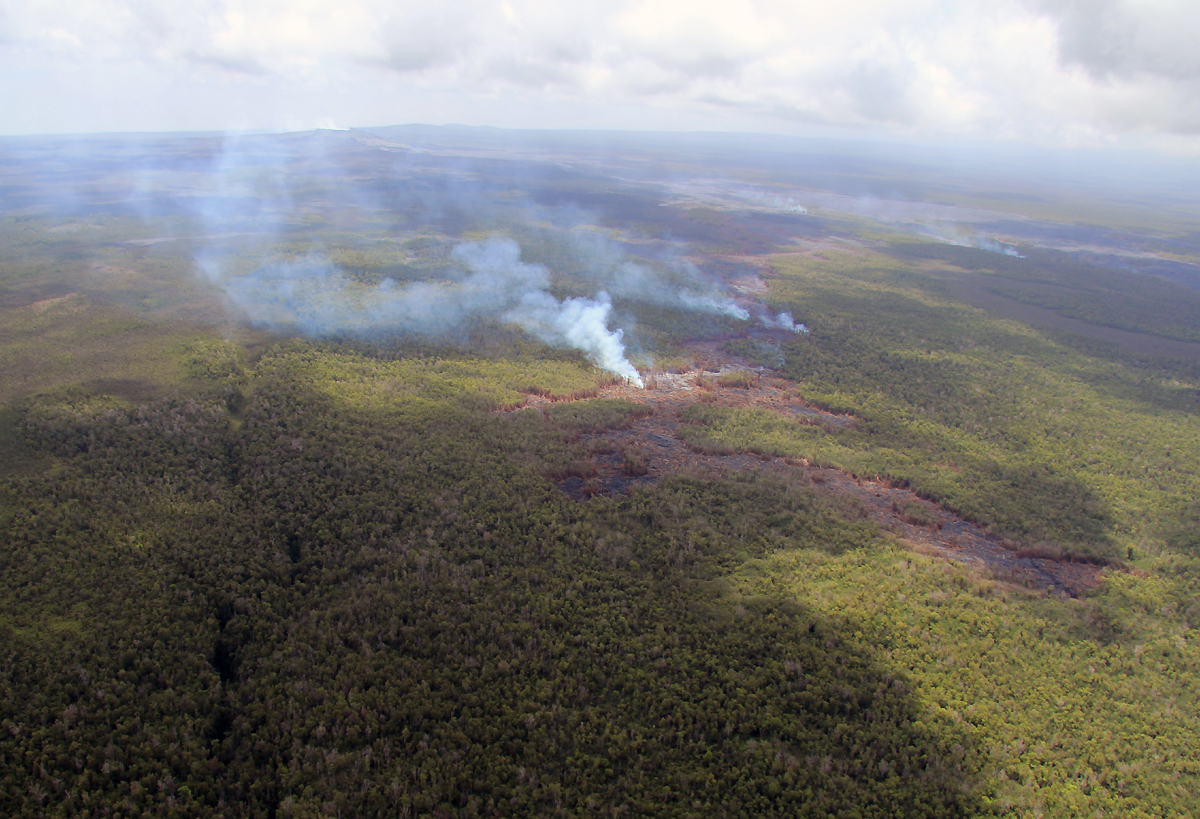 Lava Information Message Issued by Hawaii County Civil Defense