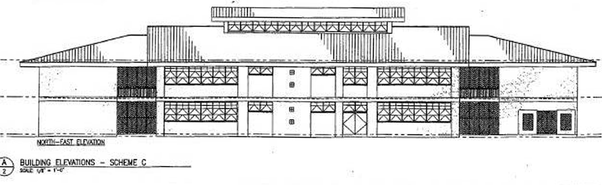 Architectural rendering of the planned WMS STEM building.