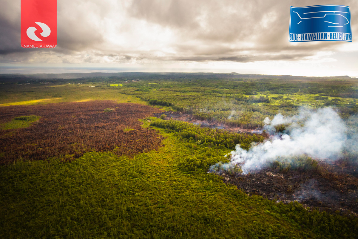 VIDEO: Images Reveal Active Lava Breakouts Behind Stalled Front