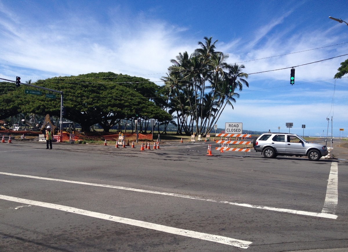 Hilo Bayfront Highway Closed Due To High Surf
