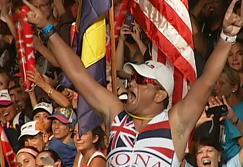 RAW VIDEO: Ironmayor Billy Kenoi At The Finish