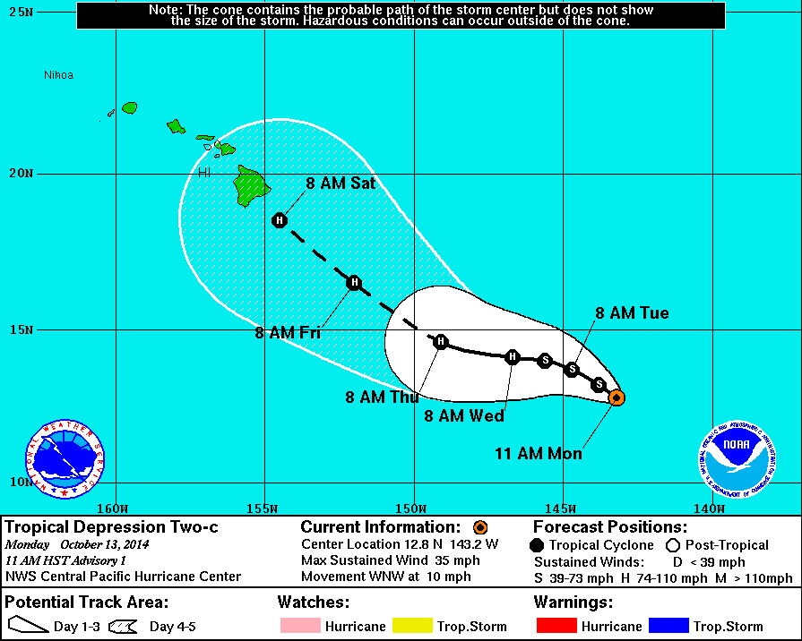 Storm Track Forecasts Sudden Hurricane For Hawaii