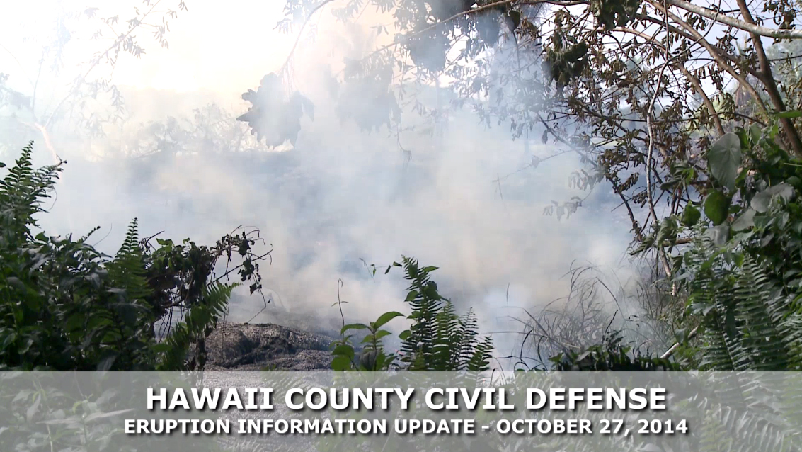 VIDEO: Evening Lava Flow Update – Monday, Oct. 27