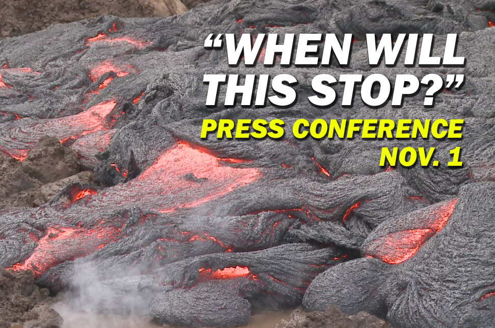 VIDEO: Media Asks USGS When Will Pahoa Lava Flow Stop?