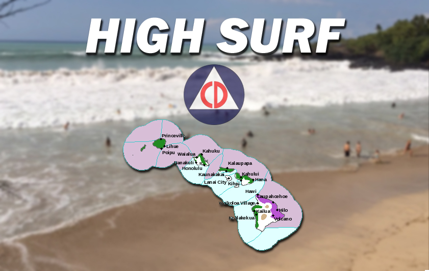 High Surf Warning Closes Kona Beaches