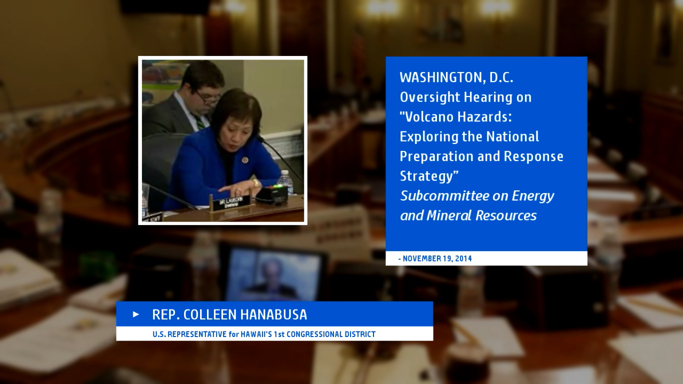 VIDEO: Rep. Hanabusa Speaks At Federal Volcano Hazards Hearing