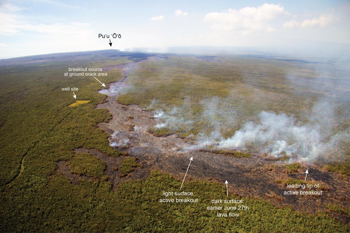 VIDEO: Overflights Track Latest Lava Advancement Upslope