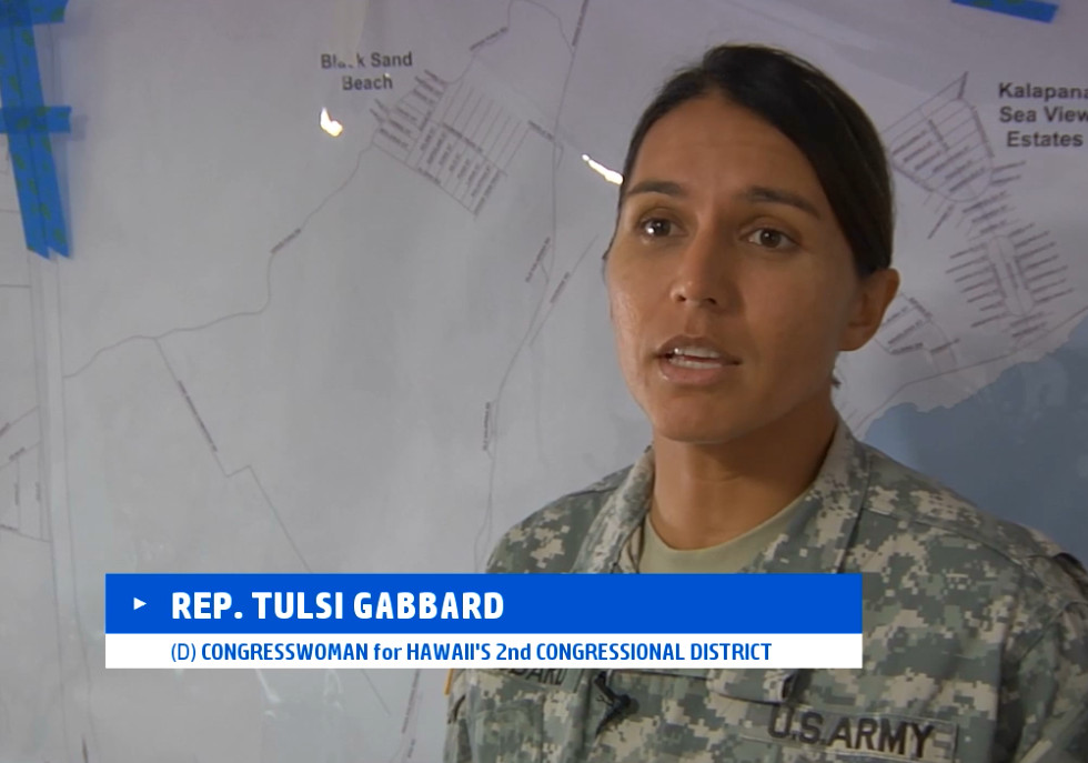 VIDEO: Gabbard Brings Puna Lava Perspective To Congress