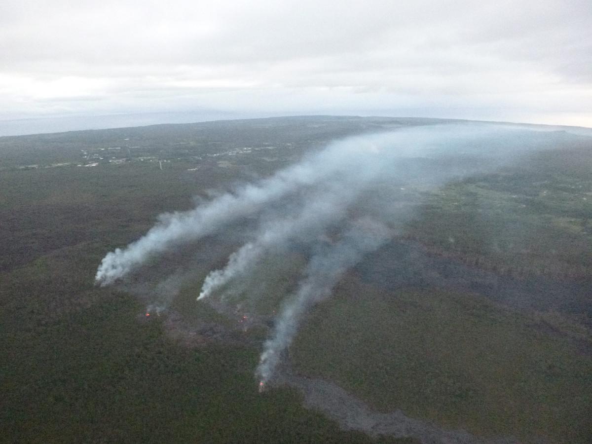 Civil Defense photo of the lava flow taken on Dec. 3
