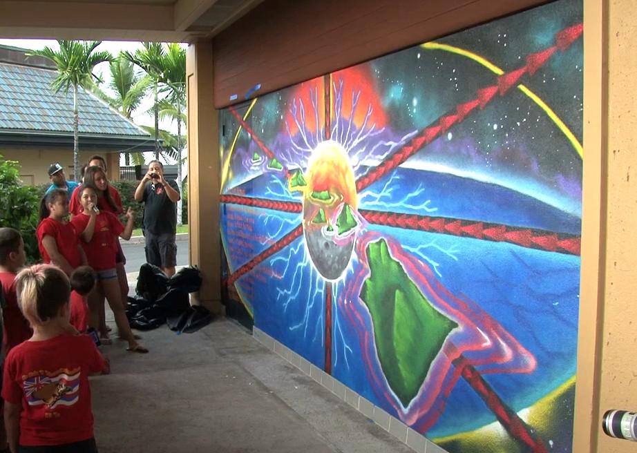 VIDEO: Mele Mural Unveiled In Keauhou