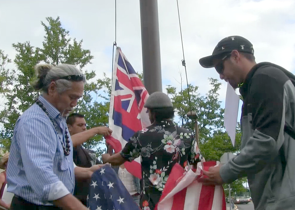 VIDEO: American Flags Taken Down By Hawaiian Kingdom Advocates