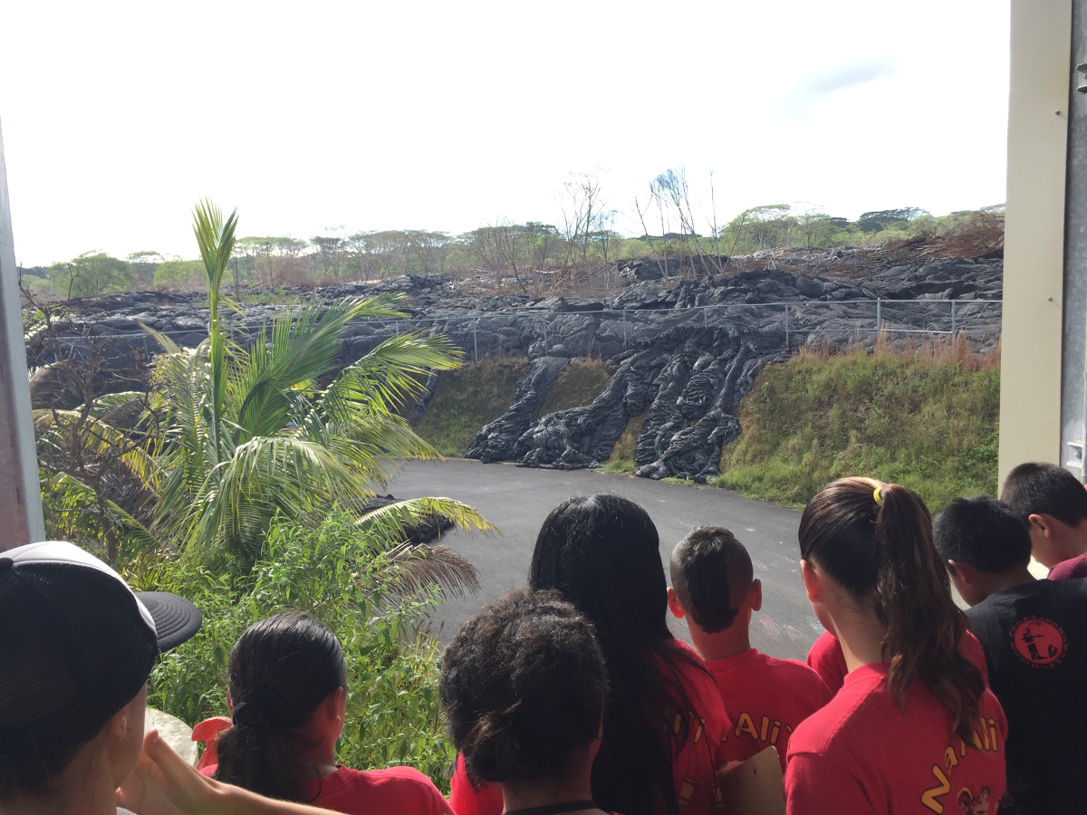 VIDEO: Displaced Students First To Visit Lava