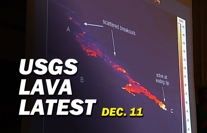VIDEO: Latest Lava Update By USGS Hawaiian Volcano Observatory