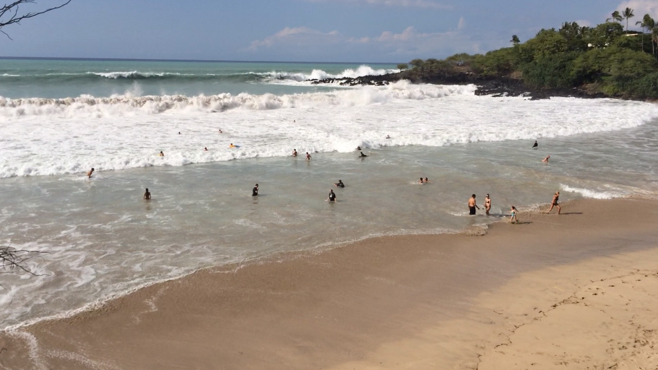 Search For Missing Swimmer At Hapuna Beach