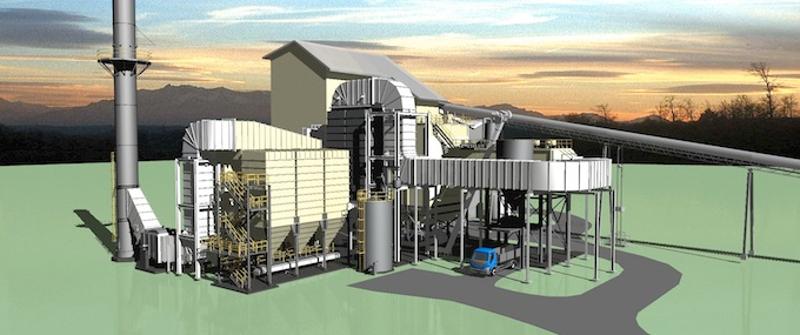 Rendering of the future facility in Pepeekeo by Hu Honua Bioenergy.