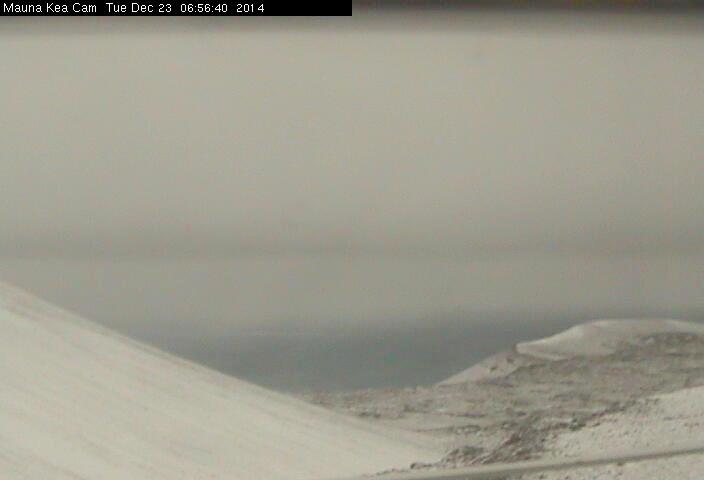 MAUNA KEA:  Mauna Loa Observatory photo taken from a webcam on Mauna Kea.