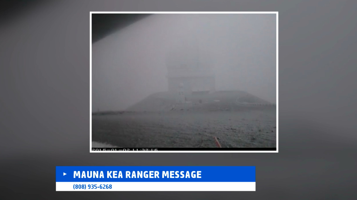 VIDEO: Hurricane Force Winds, Snow Hit Hawaii Summits