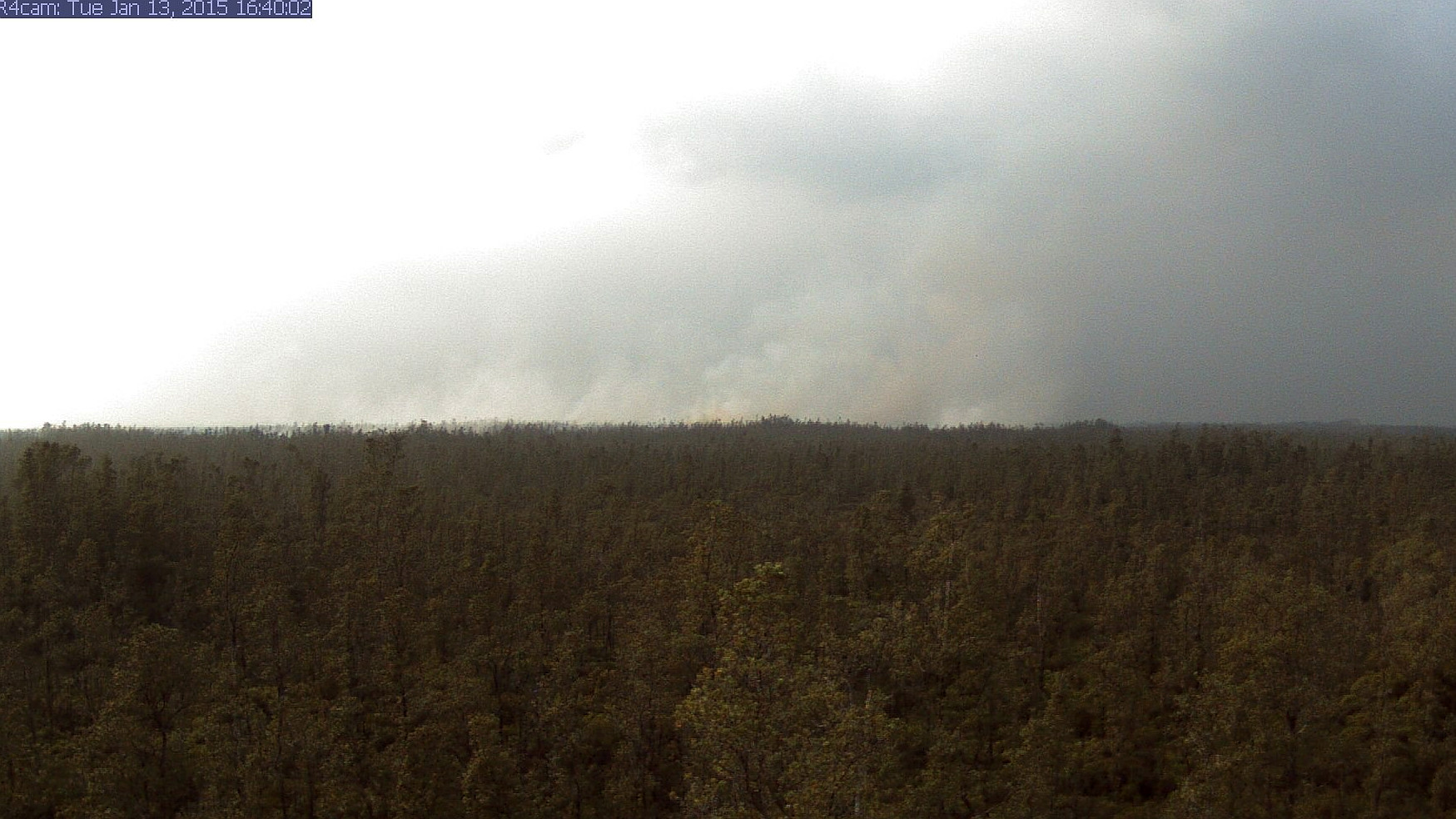 Another Brush Fire Started By Lava Flow